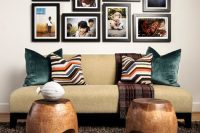 family photos above your sofa