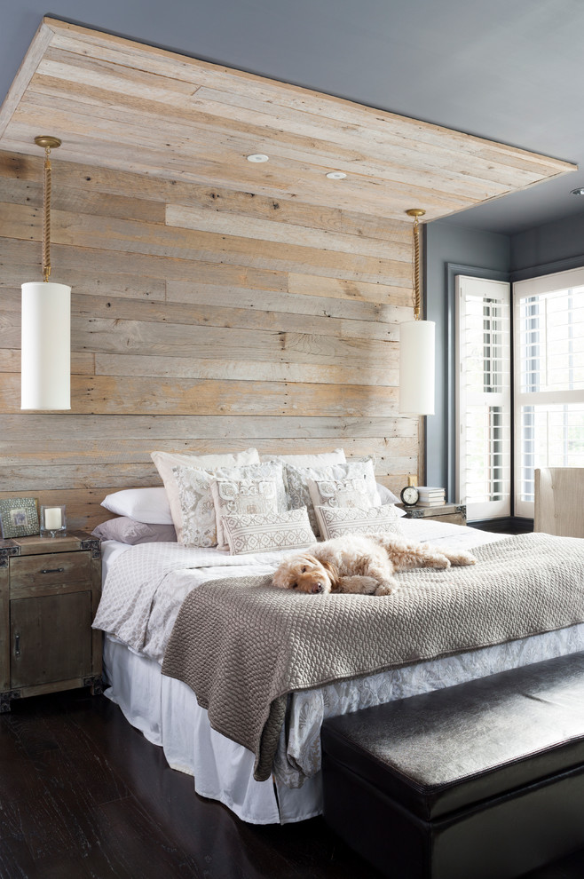 Great reclaimed wood wall behind a bed could add a rustic touch to any decor