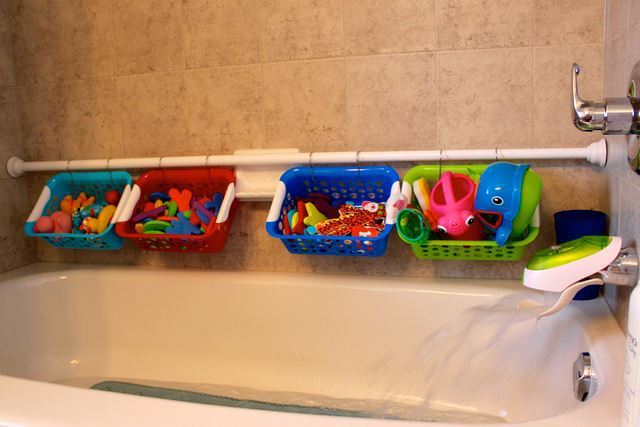 Easy to make but very useful bath toy storage