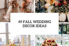 49 fall wedding decor ideas cover