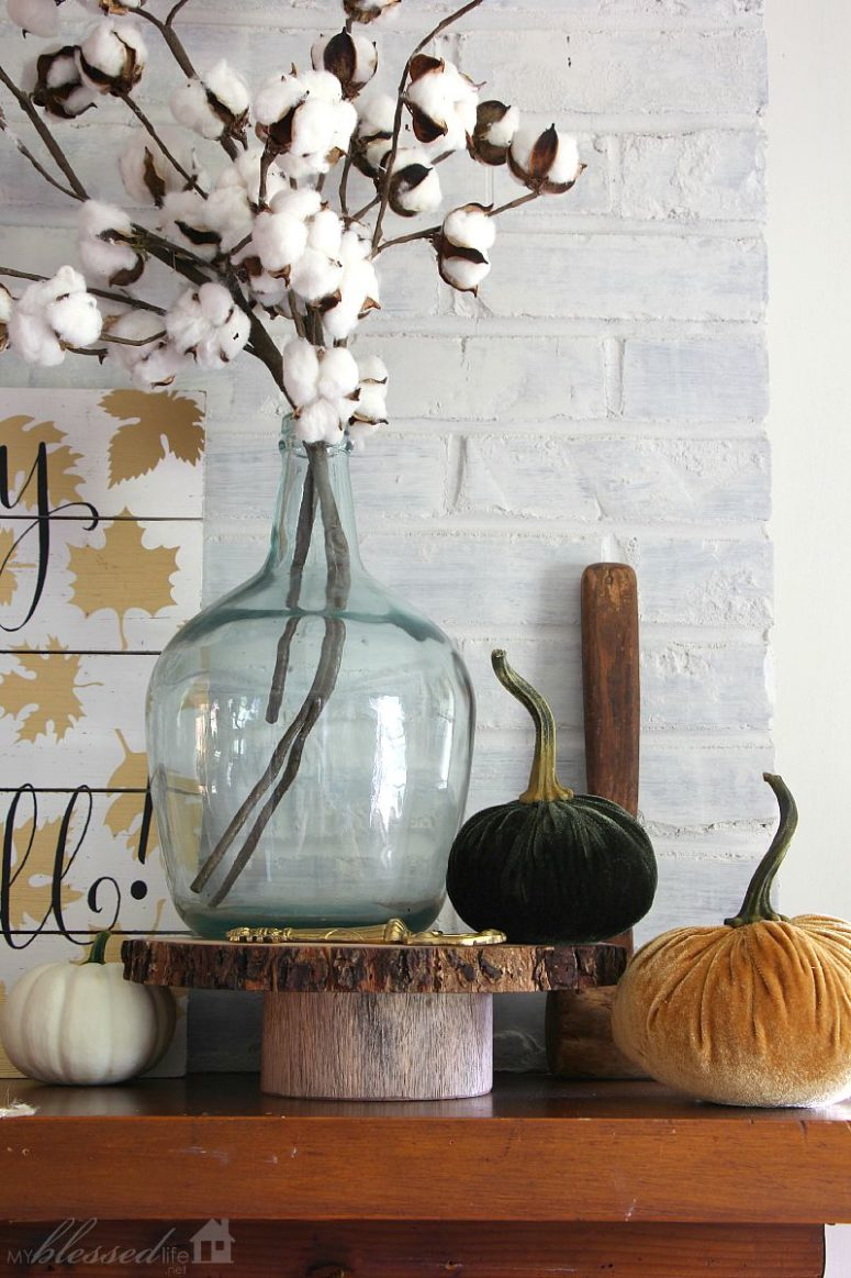 fall mantle arrangement photography - photo #31