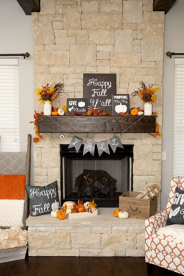 Chalkboard accents is an another great way to add a personal, creative touch to a mantel's decor.
