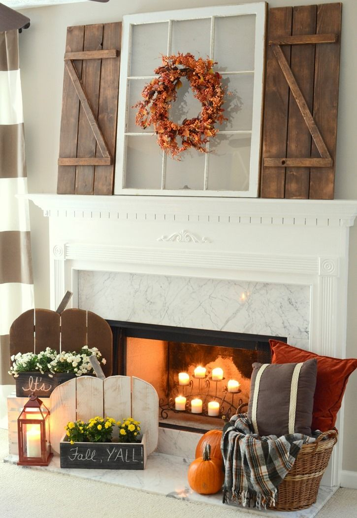 exciting fall mantel decor ideas 87 Exciting
