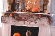 62 exciting fall mantel decor ideas