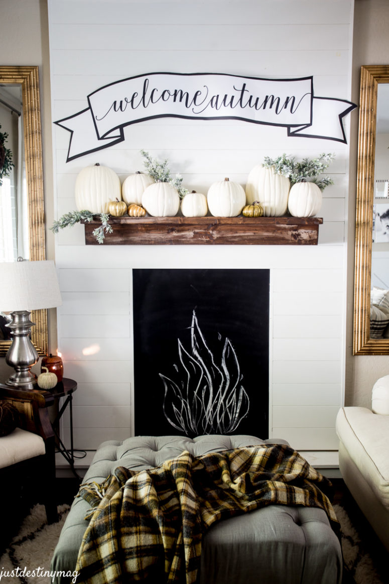 If you don't have a mantel even a single shelf could be turned in one with some creativity.