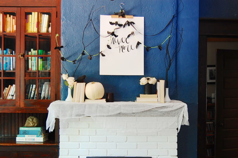 For Halloween you can choose a chic black and white theme and make decorations according to it. You can paint pumpkins in white while some tin cans and sticks in black.  Together they'd look totally awesome!