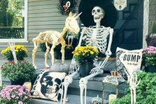 a creepy halloween porch decor