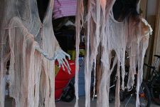 cloaked ghosts with a lantern are fantastic decorations for indoors and outdoors, use them for Halloween