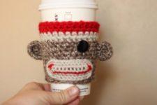 Sock monkey cuzy cup.