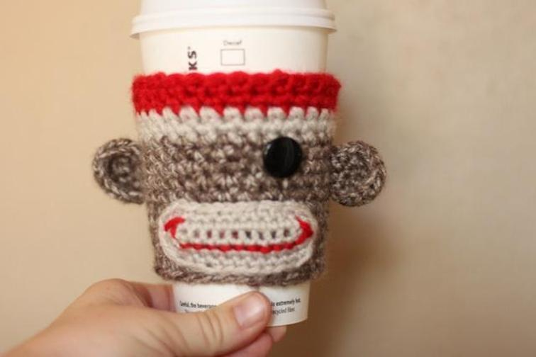 Sock monkey cuzy cup. (via https:)