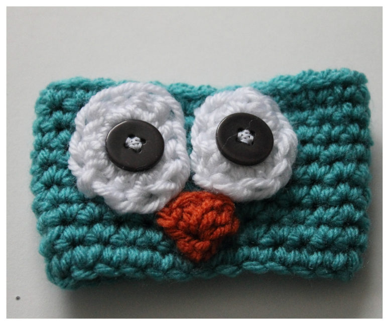 Super cute crochet owl coffee cup. (via makeitcozee.blogspot.ru)