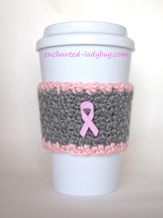 Breast Cancer Awareness Pink Ribbon Cup Cozy (via enchanted-ladybug.com)