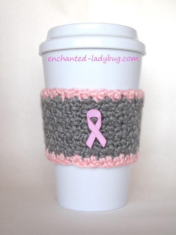 Breast Cancer Awareness Pink Ribbon Cup Cozy (via enchanted-ladybug.com)