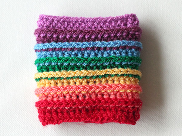 Rainbow Cup Cozy (via https:)