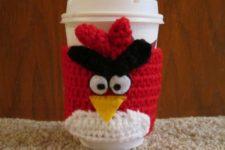 Angry Birds Coffee Cozy Crochet Pattern
