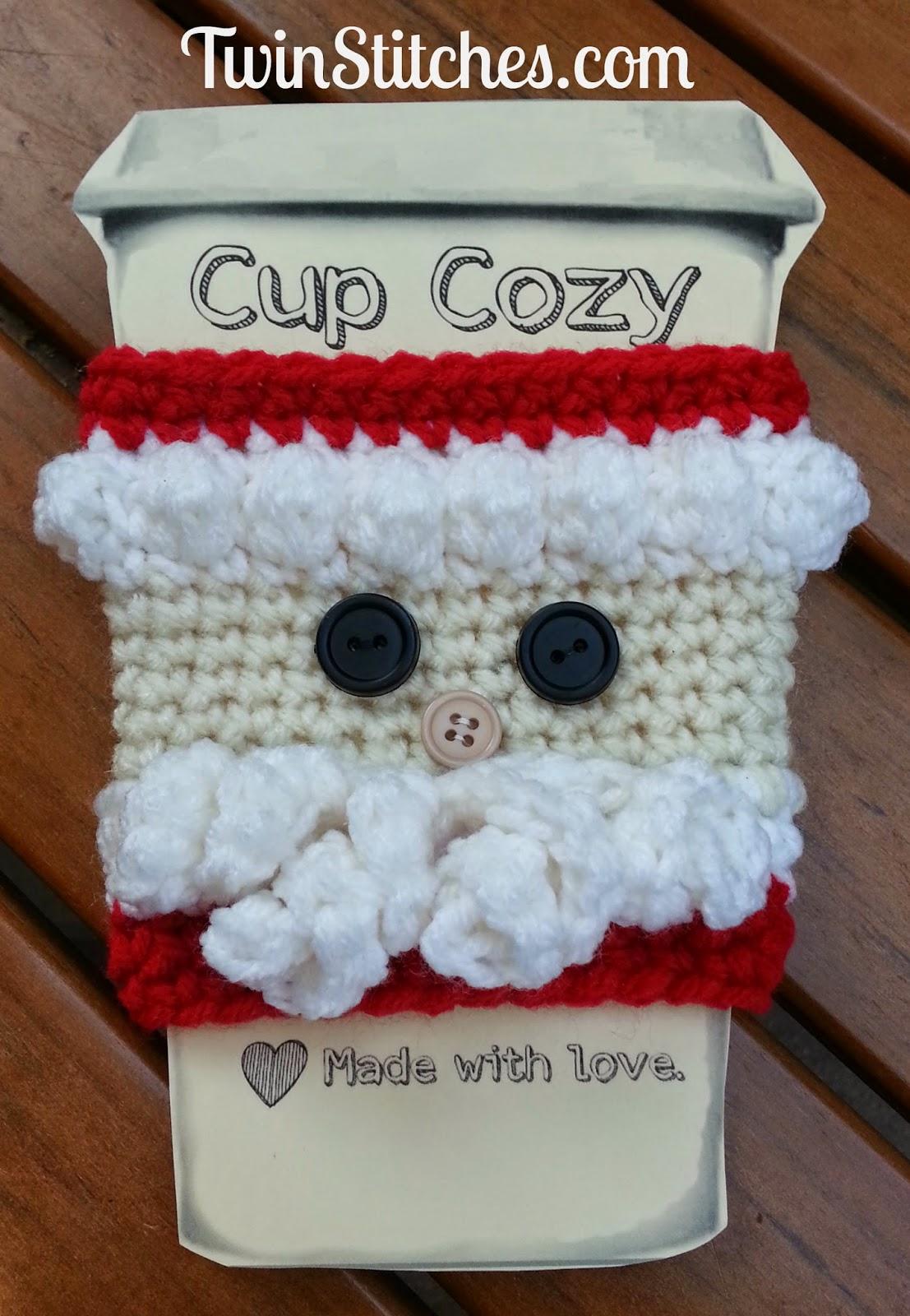 Santa cup cozy for Christmas season