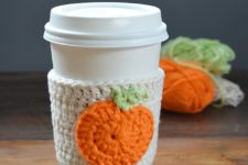 Perfect DIY cup cozy for a Pumpkin Spice season we all love