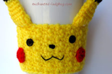 Crochet Pikachu cozy that is perfect for kids