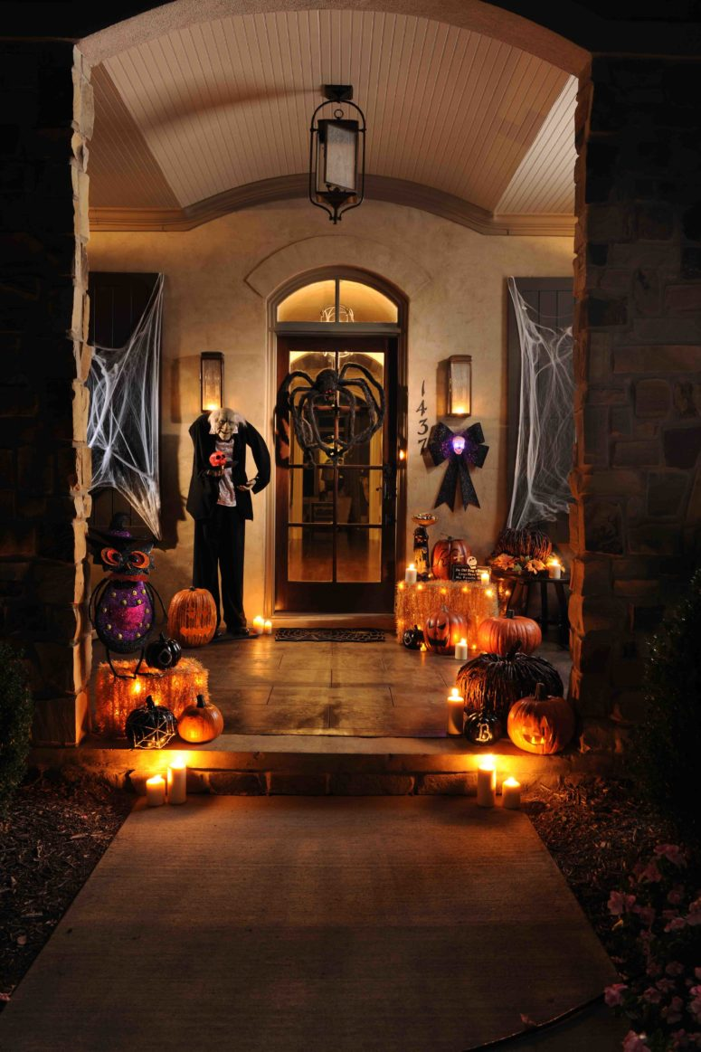 cute and cozy fall and halloween porch decor ideas - Cool Halloween Designs