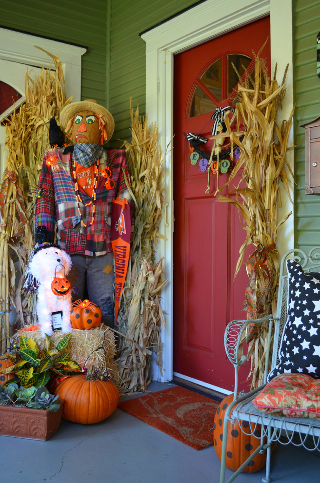 cute and cozy fall and halloween porch decor ideas - Cute Halloween Door Decorating Ideas