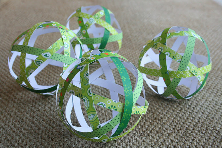 these gorgeous lightweight airy and impressive decorations are made of simple paper strips