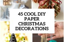 27 wonderful paper and cardboard christmas decorations