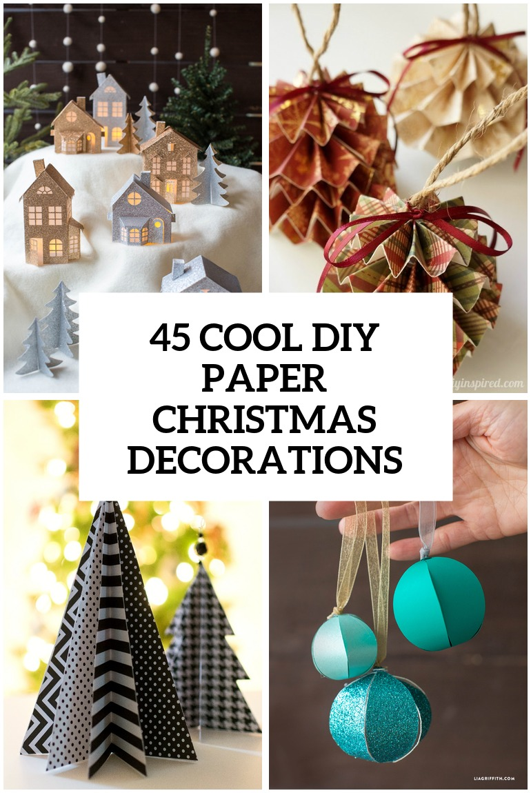 45 Wonderful Paper And Cardboard DIY Christmas Decorations - Shelterness