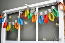 Christmas lights paper garland