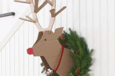 Cardboard wall reindeer
