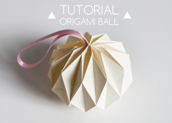 origami ball - Cardboard Christmas Decorations
