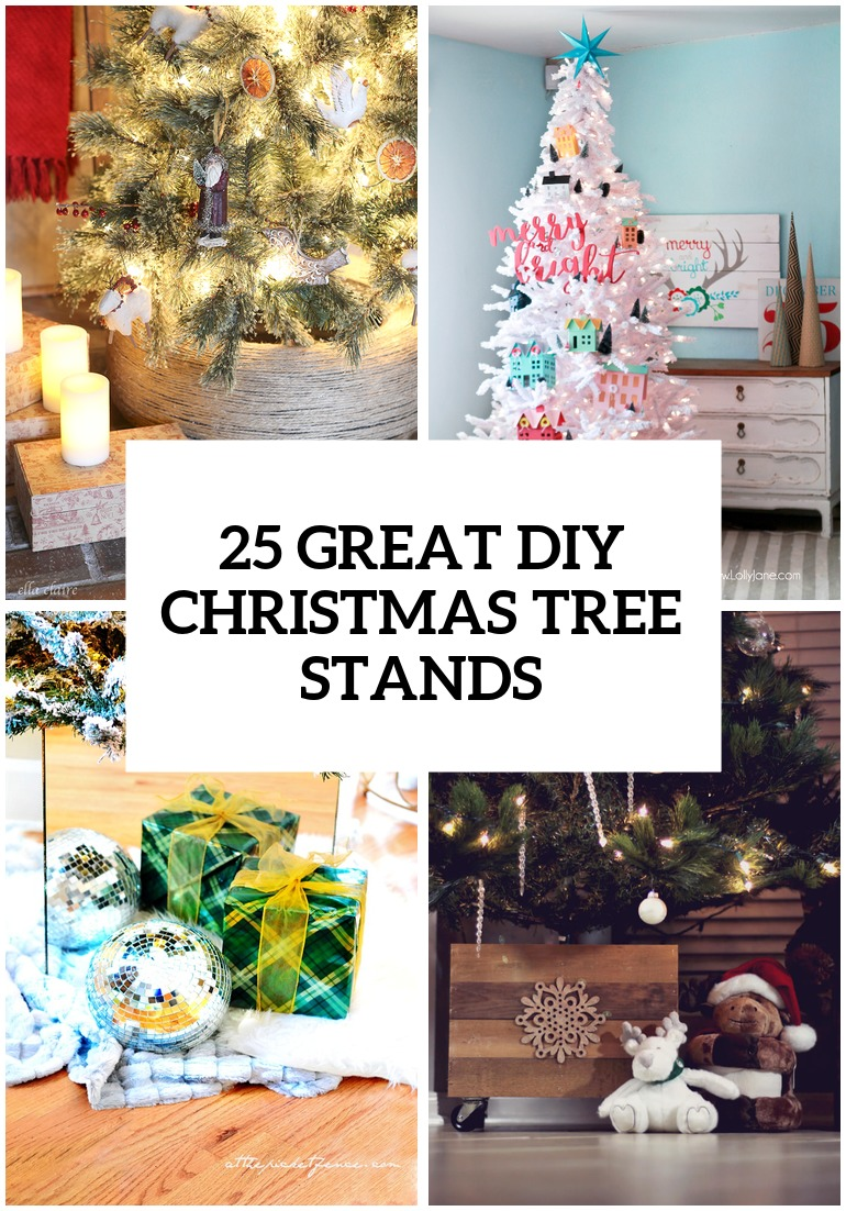 25 Great DIY Christmas Tree Stands And Bases - Shelterness