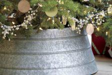 Galvanized Christmas tree collar