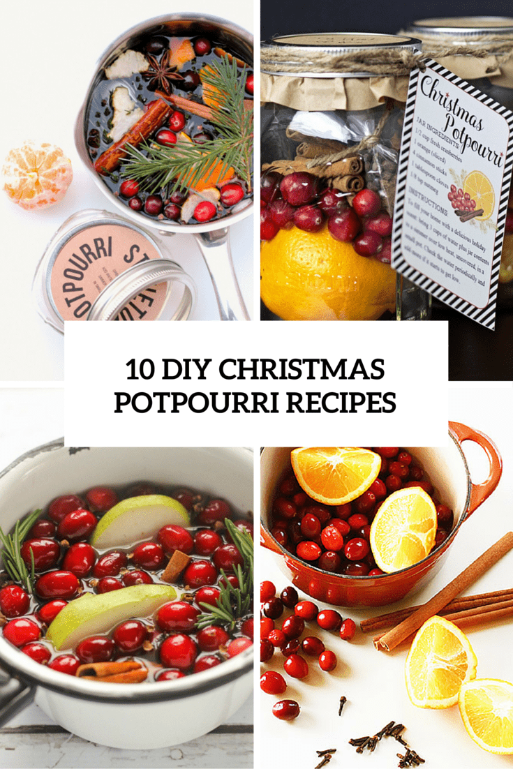 10 diy christmas potpourri recipes cover