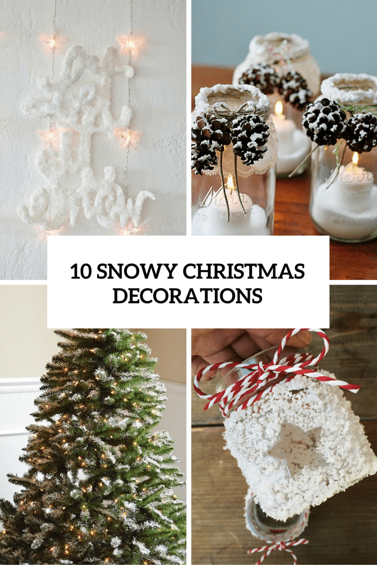 10 snowy christmas decorations cover