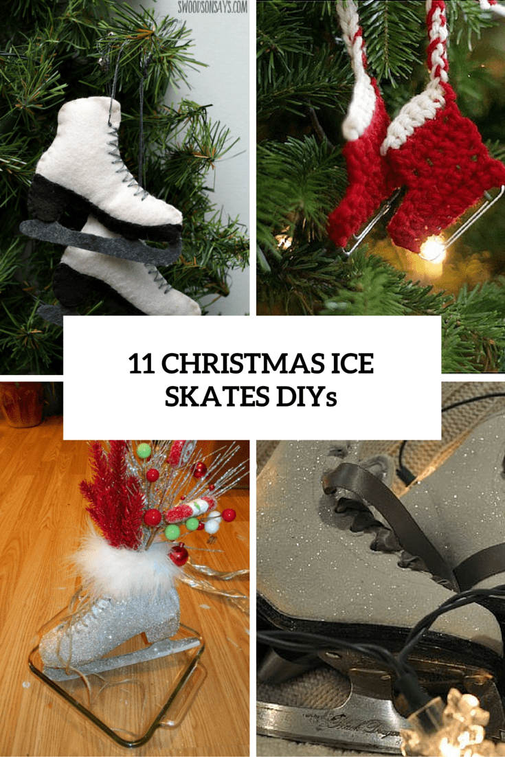 11 christmas ice skates diys cover - Ice Skate Christmas Decoration