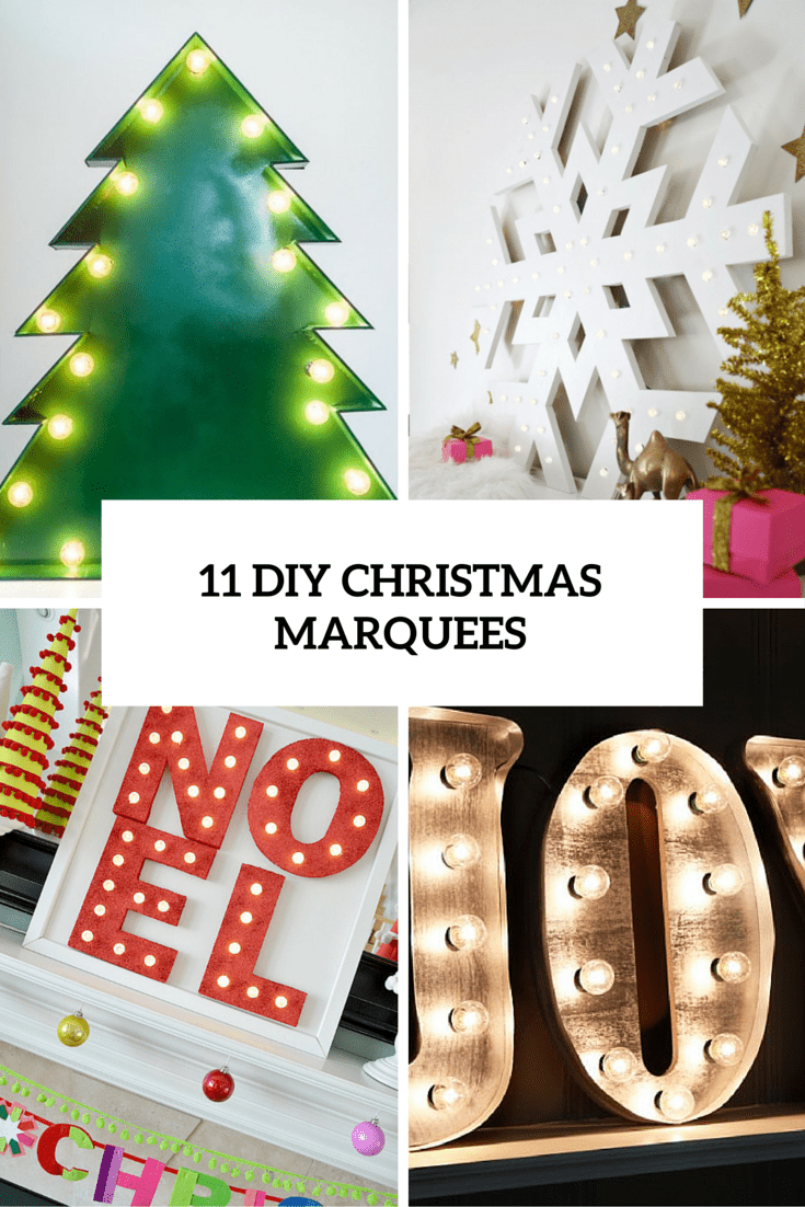 11 Awesome DIY Christmas And New Year Marquee Lights