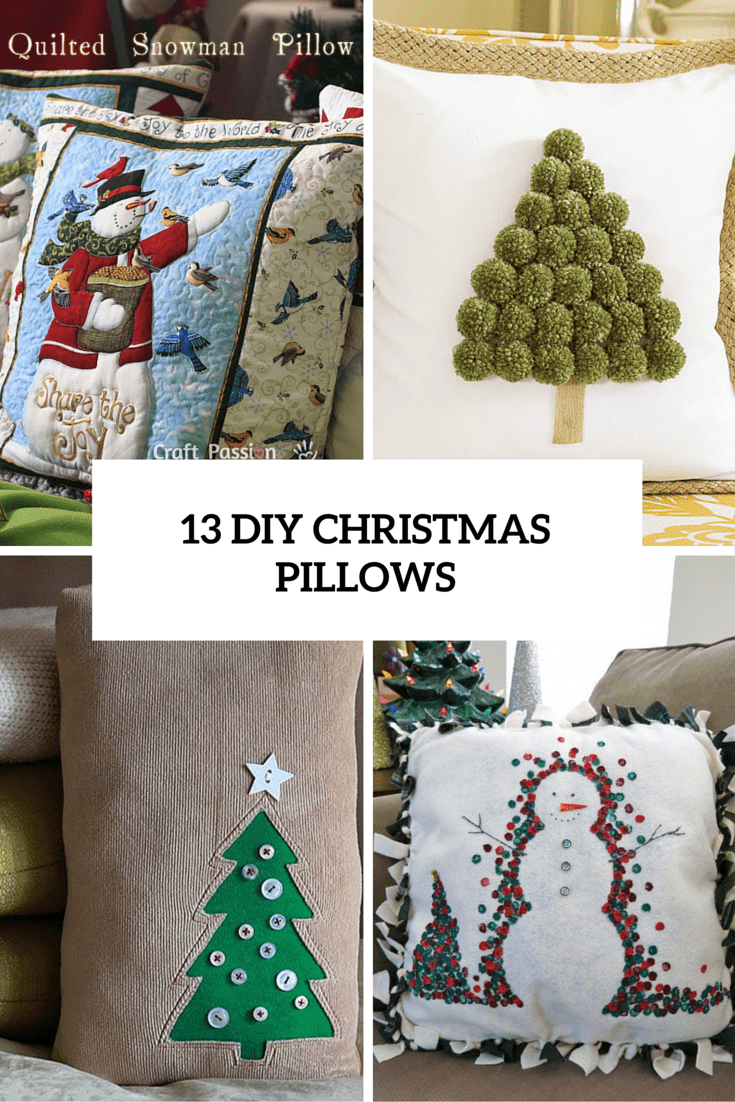 13 Fun DIY Christmas Pillows To Make Holidays Cozier