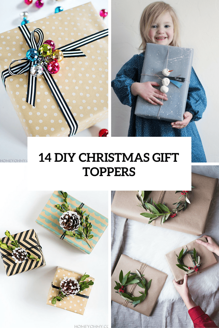 14 Cute DIY Christmas Gift Toppers To Make - Shelterness