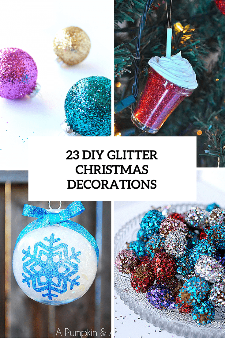 23 diy glitter christmas decorations cover