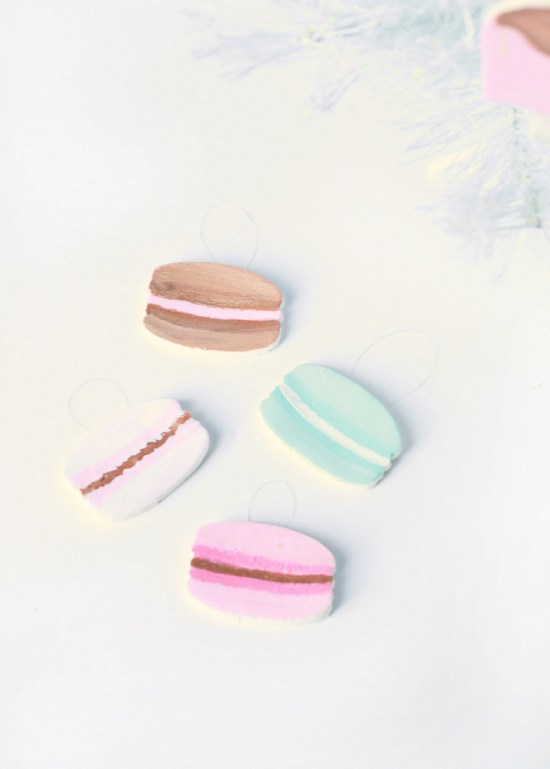 Adorable DIY French Macaron Ornaments