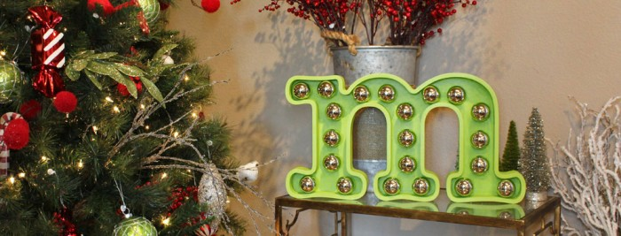 Christmas ornaments marquee (via craftcuts)