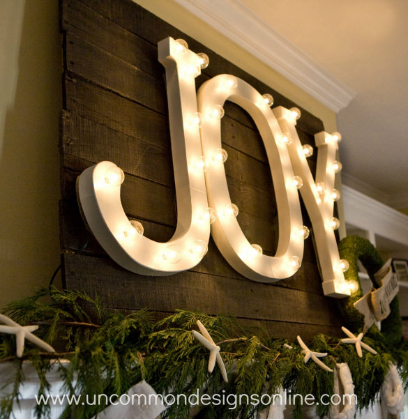 big JOY marquee (via uncommondesignsonline)