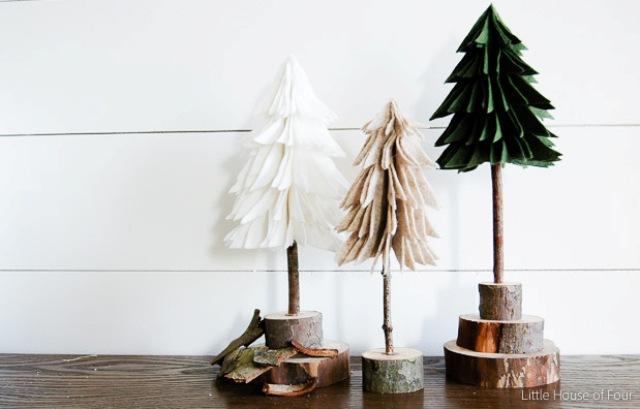 Budget-Friendly DIY Rustic Felt Christmas Trees