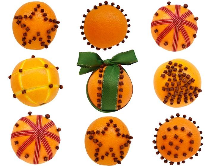 patterned orange pomanders (via blog)