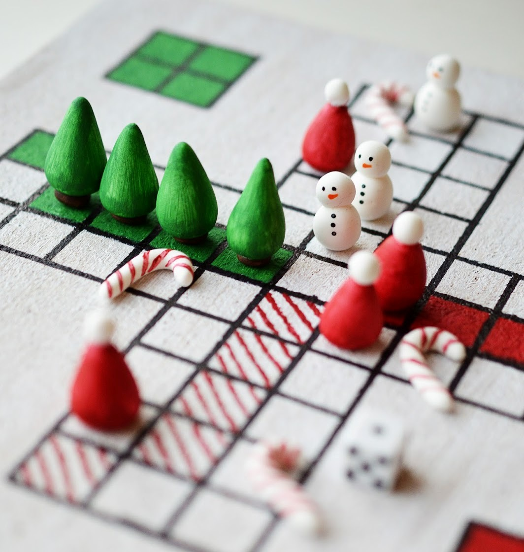 Colorful DIY Christmas Board Game