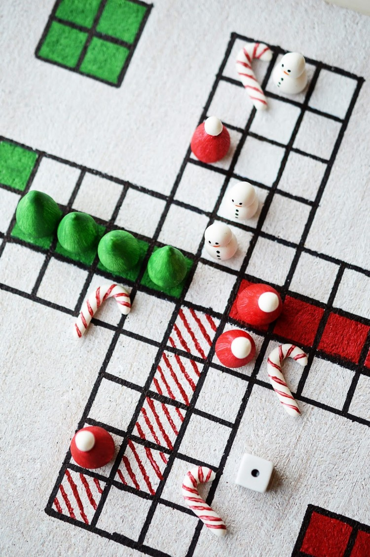 Colorful DIY Christmas Board Game