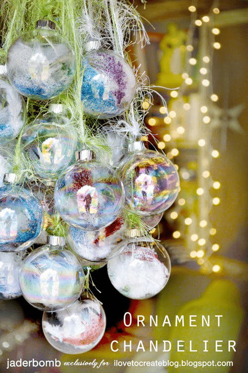 ornament chandelier (via ilovetocreateblog)