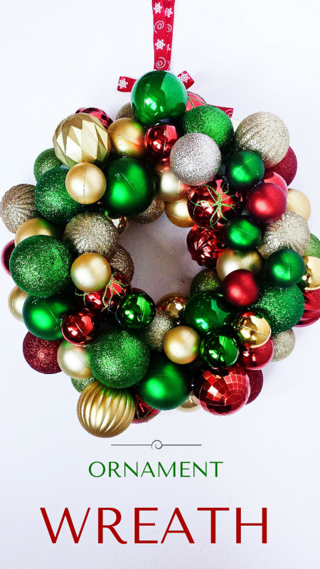 dollar tree ornament wreath (via destinationdecoration)