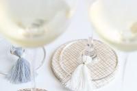 tassel glass charms