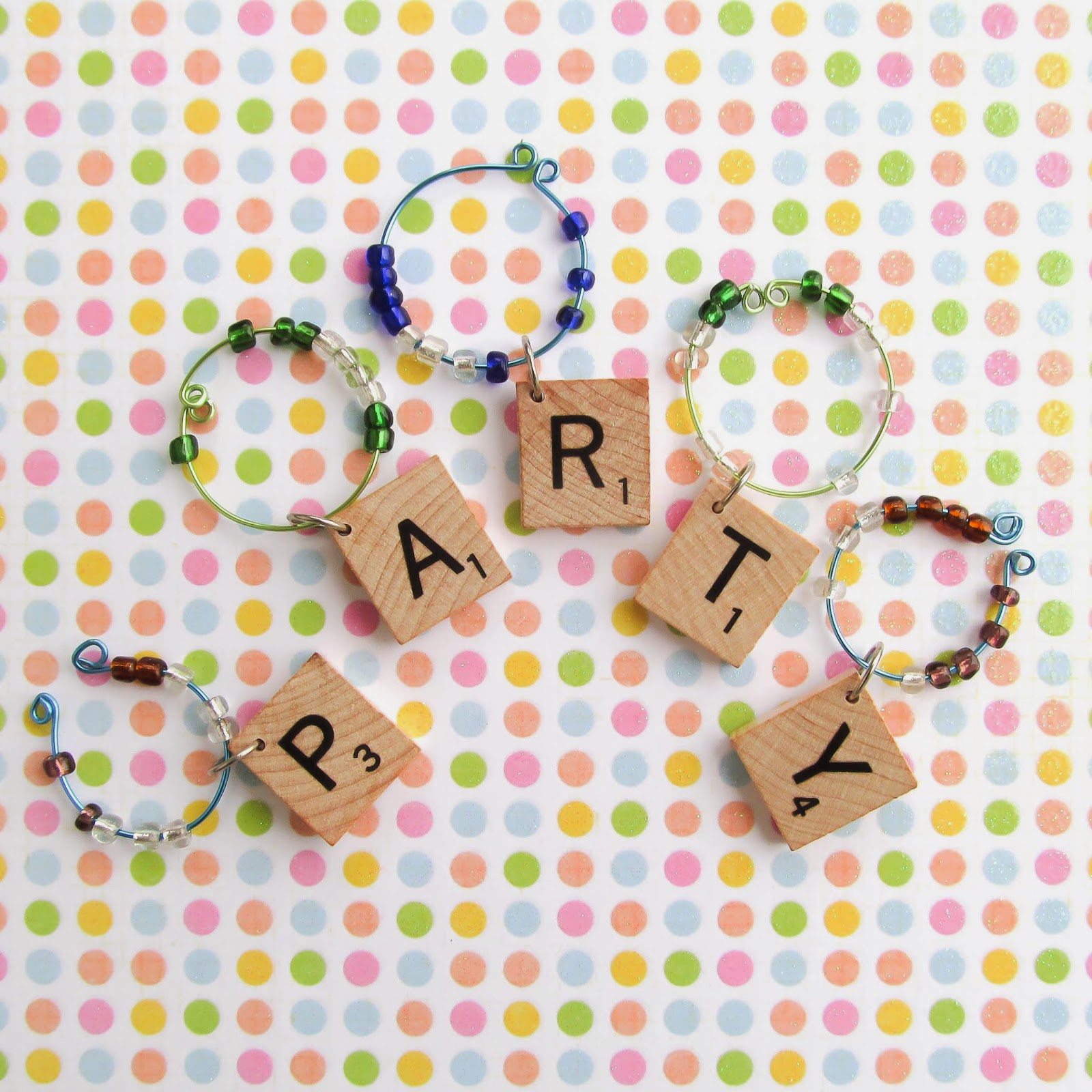 scrabble and bead charms